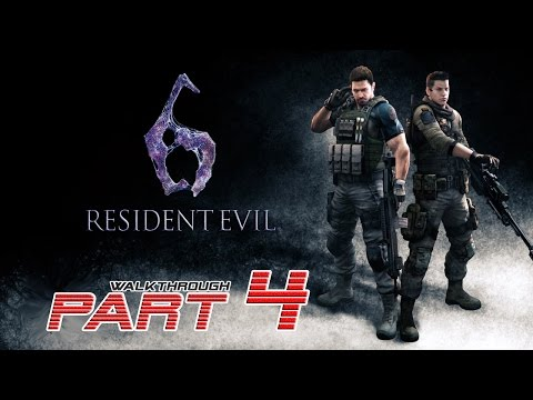 Resident Evil 6 (PS4) - Chris/Piers - Walkthrough Gameplay PART 4 【60FPS】
