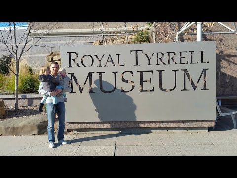 Royal Tyrrell Museum In Drumheller With Toddlers