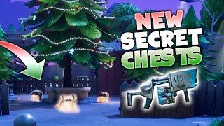 NOUVEAUX ENDROITS SECRETS DE COFFRE D'ARBRE DE NOEL ! - Fortnite Battle Royale Christmas Update!