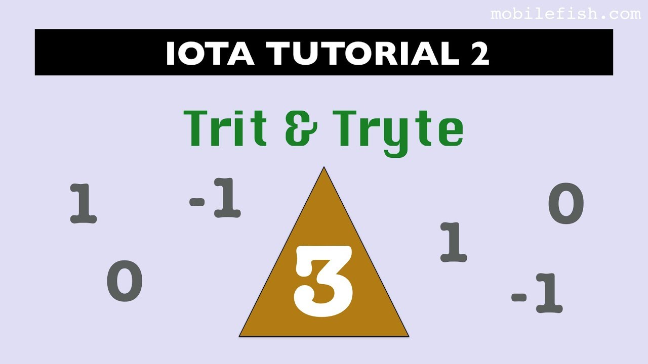 IOTA tutorial 2: Trit and Tryte