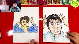 How to draw Jackie Chan