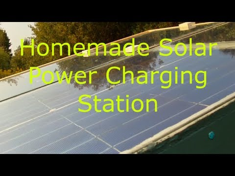 Homemade Solar Power Charging Station