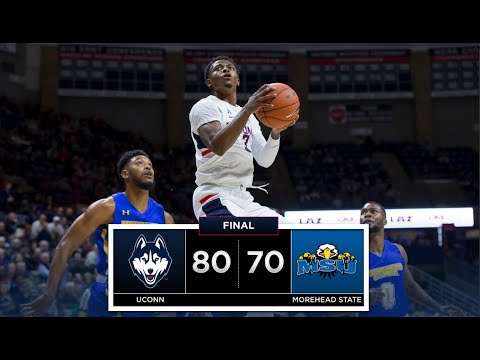 UConn Men's Basketball Highlights v. Morehead State 11/08/2018
