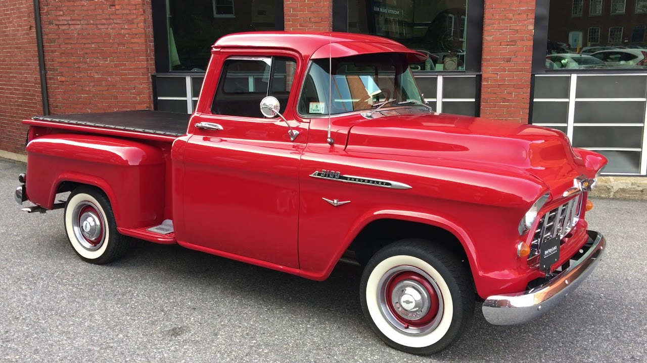 1956 Chevy 3100 Short Bed w/ 283 and a 4 Speed - YouTube