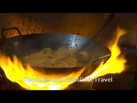 Pad Thai cooking heavy wok style