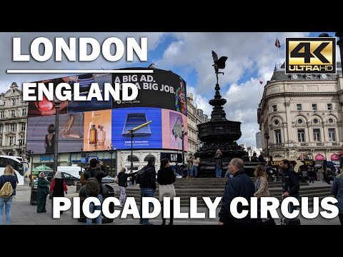 LONDON TOUR | Walking around Piccadilly Circus, England [4K]