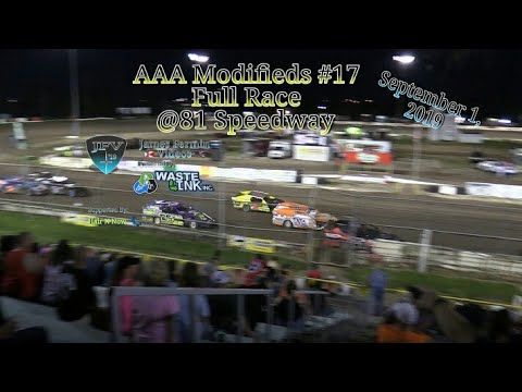 (AAA) Modifieds #84, Full Race, 81 Speedway, 09/01/19