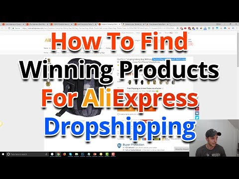 How To Find Winning Products For AliExpress Dropshipping - YouTube