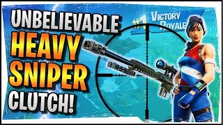 Hysteria | Fortnite | Unbelievable Heavy Sniper Clutch! - Duos with Roxy