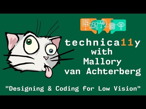 Youtube thumbnail for Designing and coding for low vision