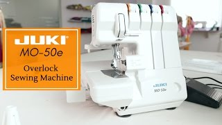 Class 42 - Juki MO 50e 3 or 4 thread Overlock machine / Serger Threading, setting up, rolled hem