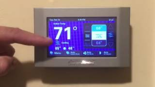 American Standard Gold xL 824 color wifi thermostat tutorial Nexia