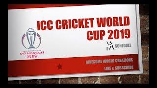 ICC Cricket World Cup 2019 schedule, time table, venue, teams