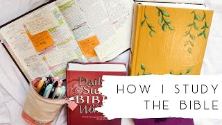 How I Study the Bible | Bible Journaling