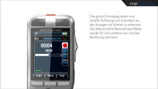 Philips Digital Pocket Memo - Großes, hochauflösendes Farbdisplay
