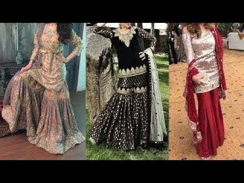 Top 15 Latest Sharara Designs (Pakistani Sharara Suits Collection) Sharara Dress Designs 2018