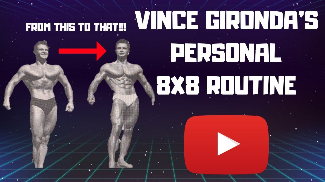 VINCE GIRONDA'S PERSONAL 8X8 ROUTINE!!! (THE REAL 8X8 WORKOUT)