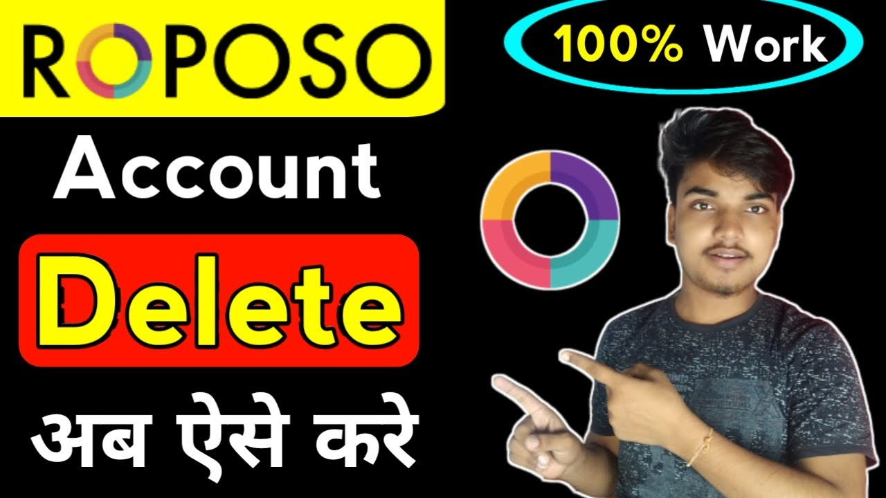 Roposo account delete kaise kare | How to delete id on roposo | Roposo ID delete permanently