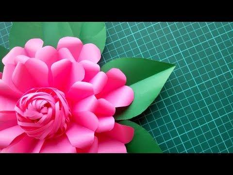 DIY PAPER GIANT FLOWER.EASY PAPER FLOWER,PAPER FLOWER CENTER,BIG FLOWER