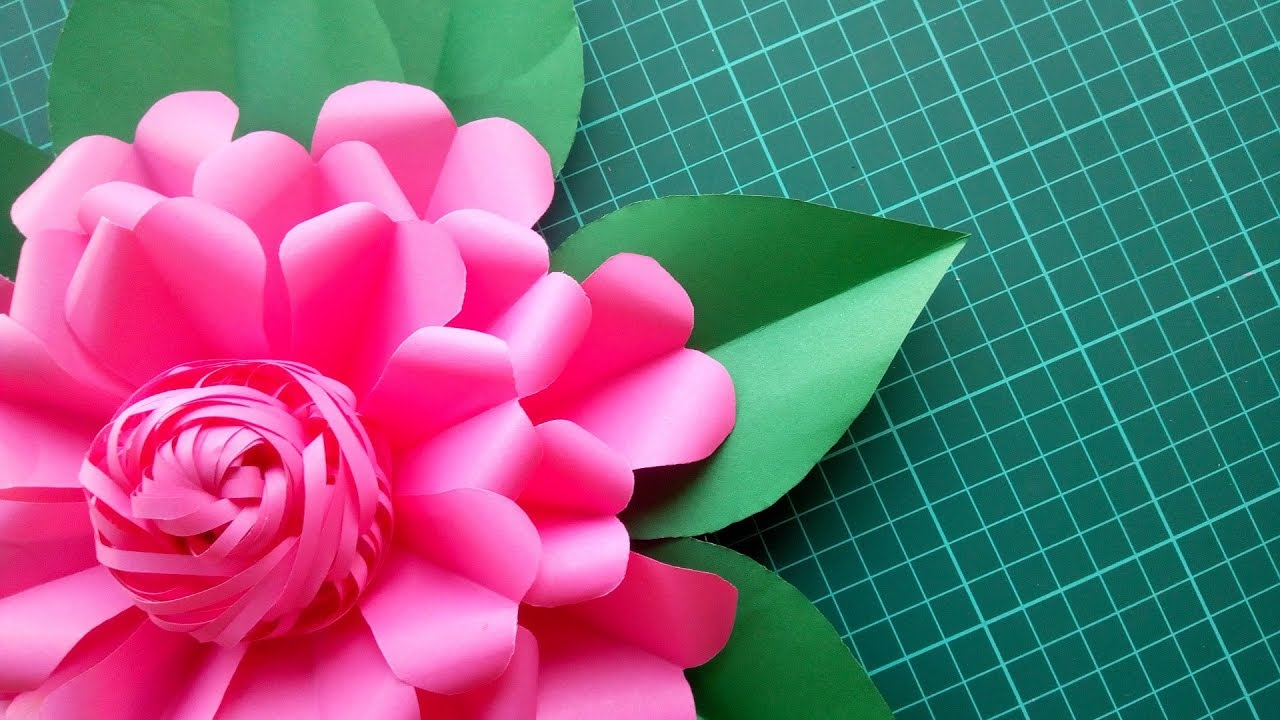 Diy Easy Making Giant Paper Flowers Wall Decor Tutorial Simple Step By Step Paper Flower Making