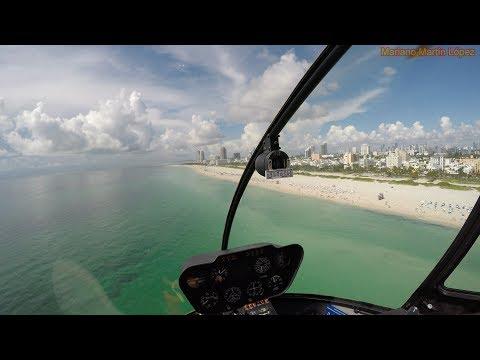 Vuelo en helicóptero en Miami - Helicopter ride in USA in 4K