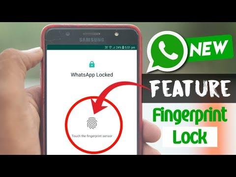 WhatsApp Fingerprint Lock On Official WhatsApp - WhatsApp Latest Update 2019 - WhatsApp New Features
