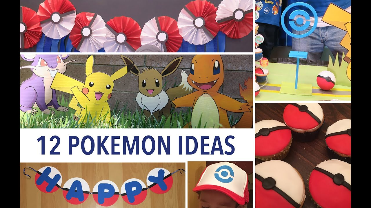 POKEMON GO 12 Party Ideas Decor Activities And Food