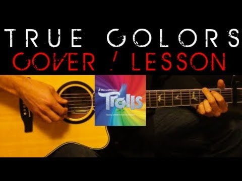 TRUE COLORS - Justin Timberlake Anna Kendrick Trolls Cover 🎸 Easy Acoustic Guitar Tutorial Lesson