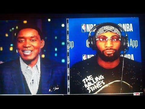 Andre Drummond Interview NBA TV Isiah, C-Webb, McHale  10/31/2017