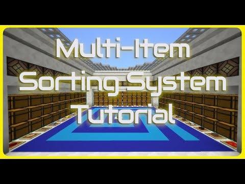 The Categorizer: Multi-Item Sorting System Tutorial + Download | Minecraft 1.15.2+/1.16