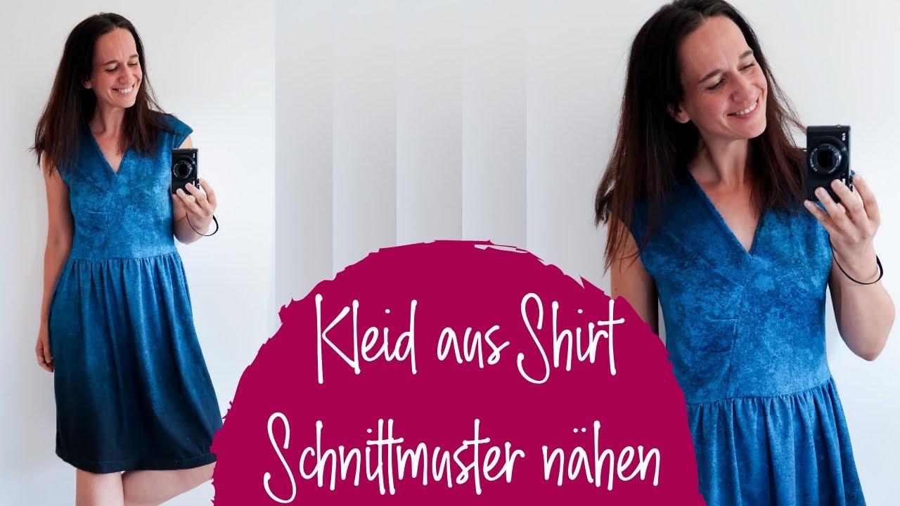Kleid aus Shirt Schnittmuster nähen (am Beispiel Schnitt Alea)