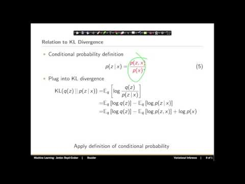 Machine Learning: Variational Inference