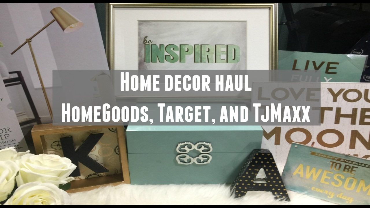 Home Office Decor Haul Homegoods Target Tj Maxx Youtube