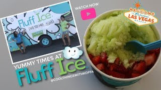 YUMMY TIMES at Fluff Ice: Las Vegas with  Kaleya and Kelani, Twin Business Owners