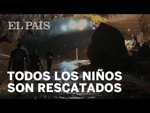 RESCATADOS TODOS LOS NIÑOS de la cueva de Tailandia
