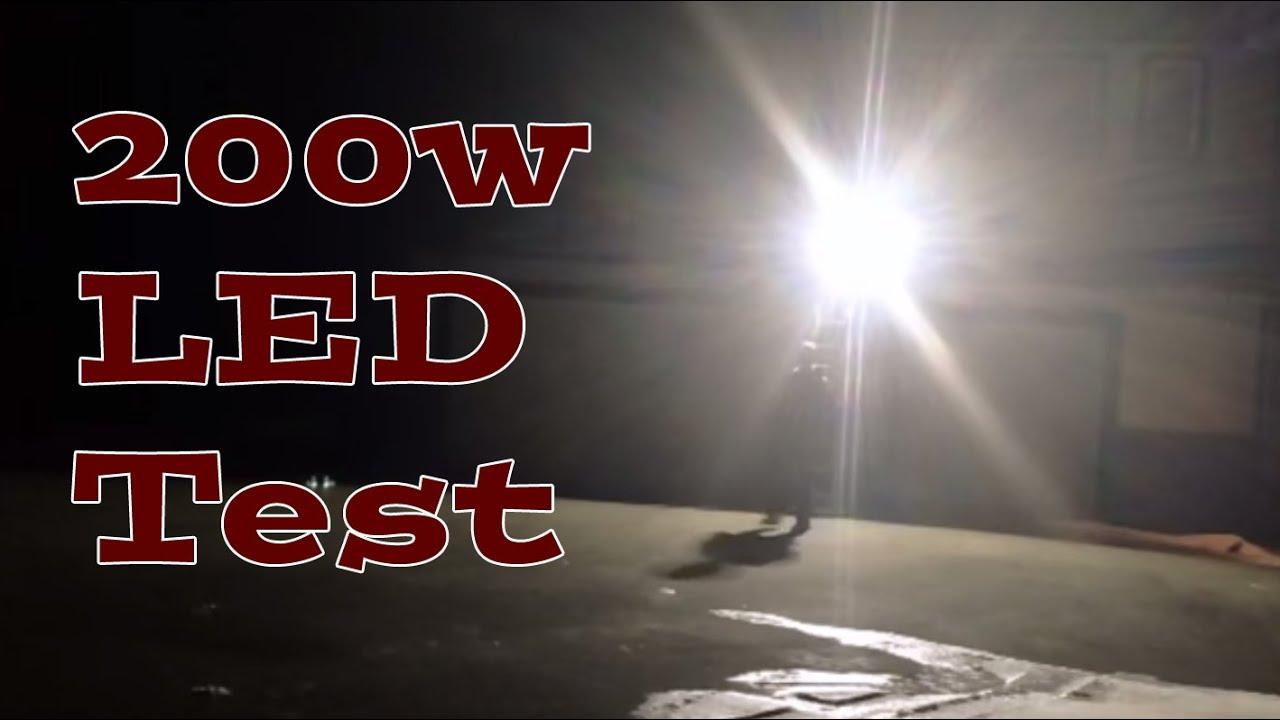 200w LED Floodlight   Outdoor, Warehouse, Acreage, Farm, Hockey Rink