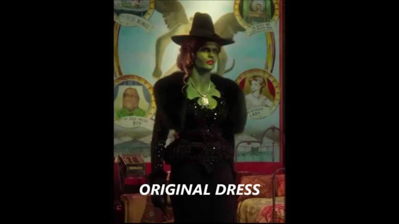 Wicked. Zelena dress from Once upon a time - YouTube