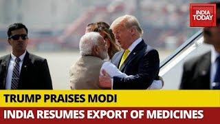 Donald Trump Praises PM Modi After India Resumes Export Of Medical Supply