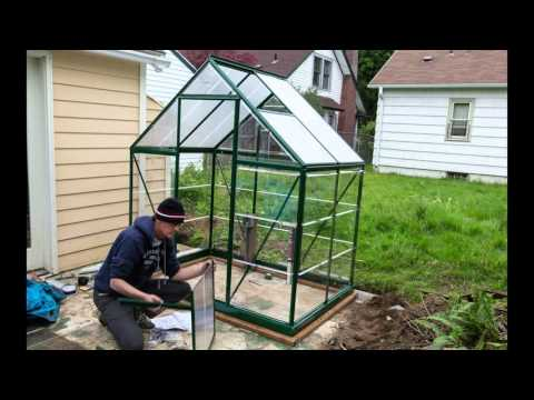Assembling a Palram Hybrid 6x4 Greenhouse Kit - YouTube