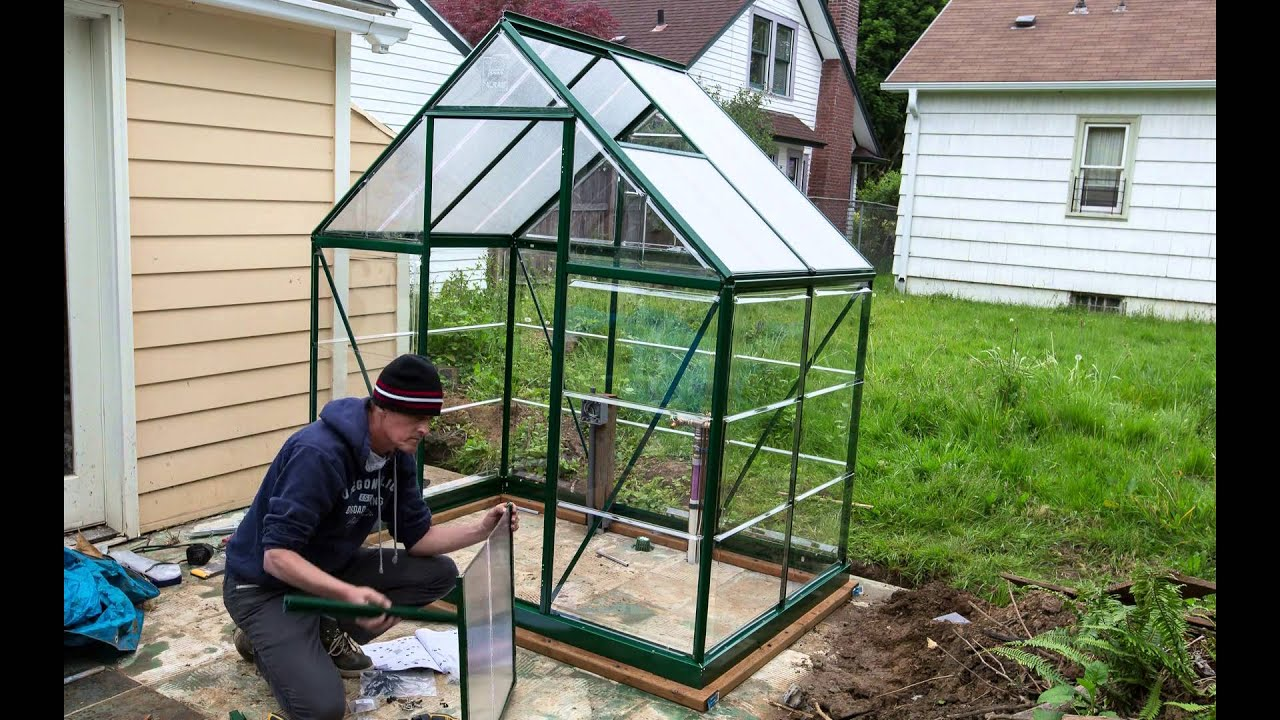 assembling a palram hybrid 6x4 greenhouse kit