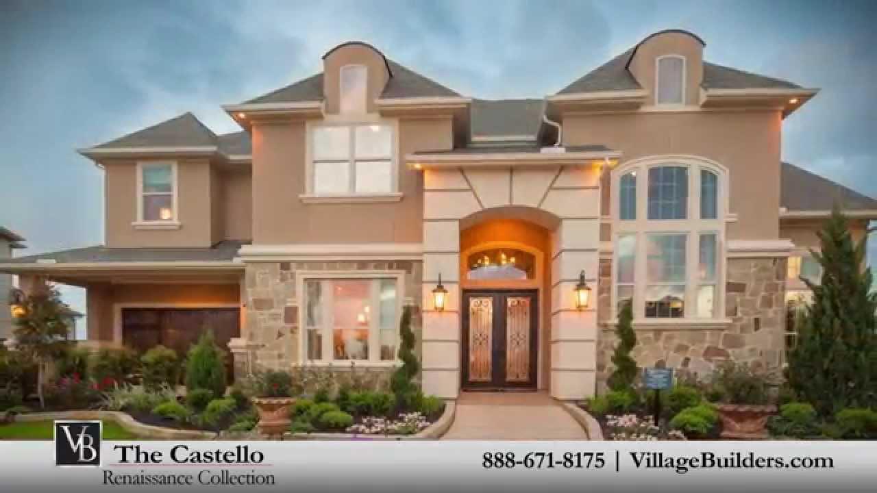 The Castello Model Tour - Village Builders Houston - YouTube