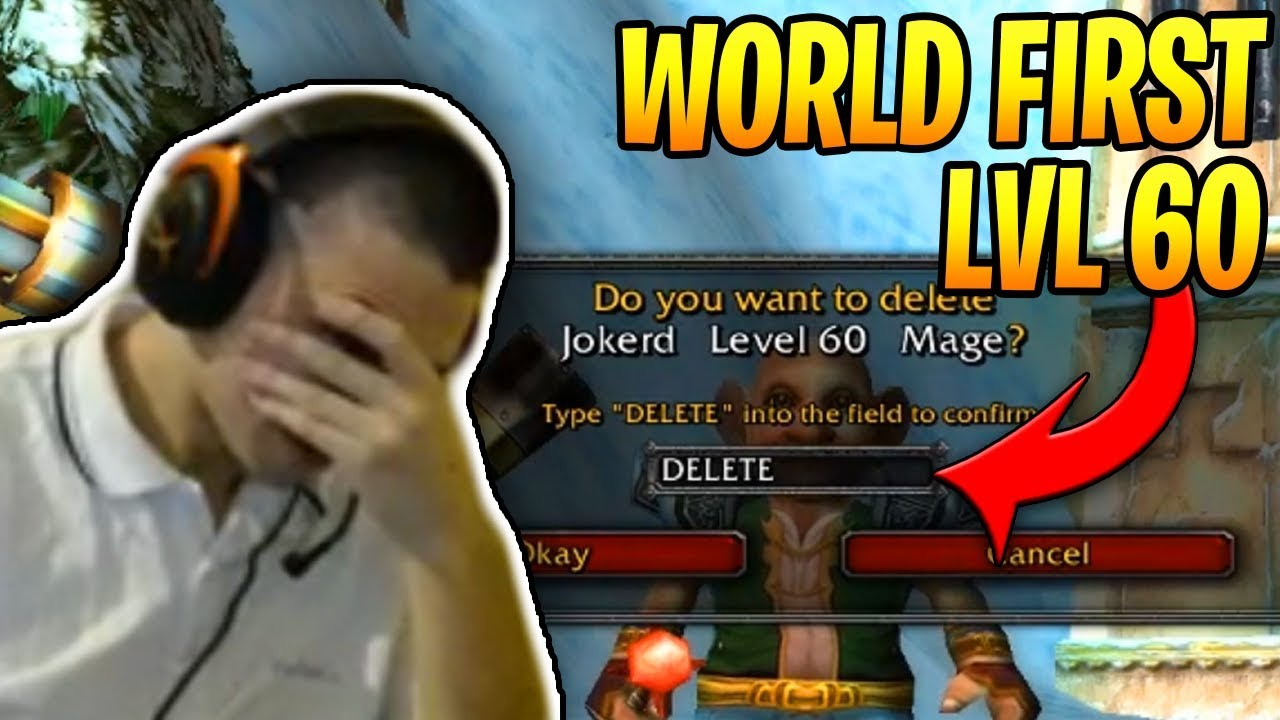 Jokerd DELETES WORLD FIRST LVL 60 Character! (WoW Classic Funny Moments #28)