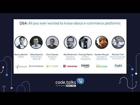 code.talks commerce special 2017 - Q&A: All you ever wanted to know about e-commerce platforms