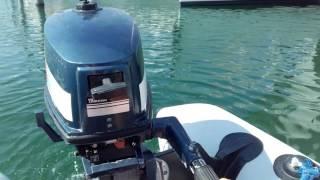 Teste du  moteurs Yamaha 4cv 2 temps partit 1