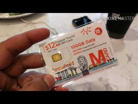Singapore Prepaid Tourist Sim Card @ 7eleven dec2018 Mp3