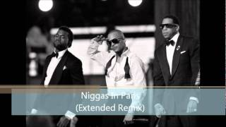 Repeat youtube video Jay-Z & Kanye West - Niggas In Paris (Extended Remix) (ft. T.I., Chris Brown, T-Pain, Red Cafe)