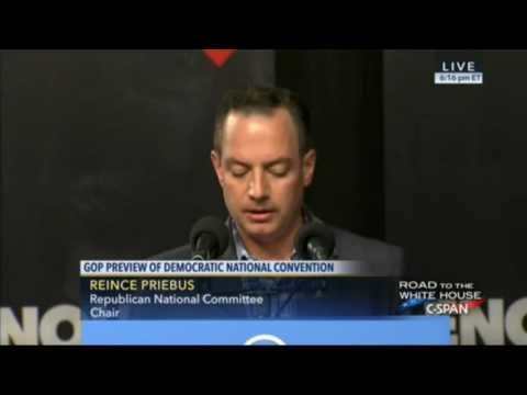 RNC Chairman Reince Priebus Speaks At Press Conference On Democratic National Convention