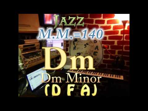 Dm Minor (D F A) - Jazz - M.M.=140 - One Chord Backing Track