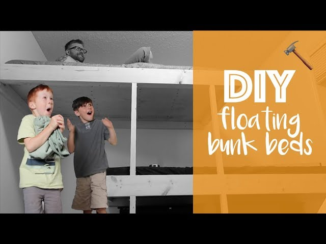 Diy Floating Bunk Beds For The Twins Our Wild Life Youtube