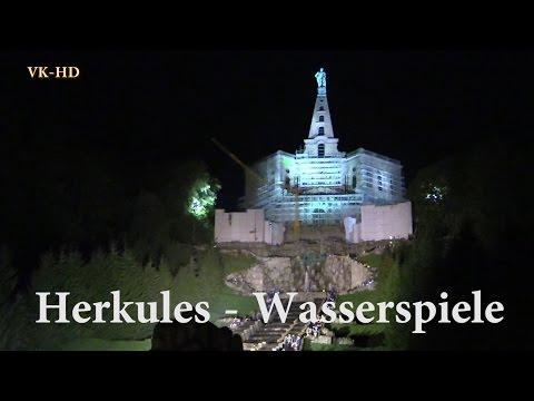 Herkules - Kassel, Wasserspiele Bergpark Wilhelmshöhe beleuchtet